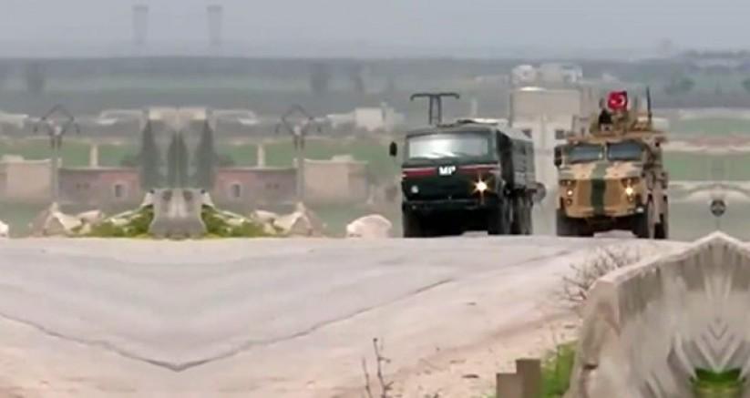 Ateşkes sonrası İdlib'den ilk görüntü! Türk ve Rus askeri araçları birlikte hareket etti