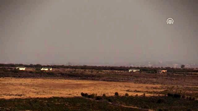 Barış Pınarı Harekatı - SMO askerlerini taşıyan konvoy
