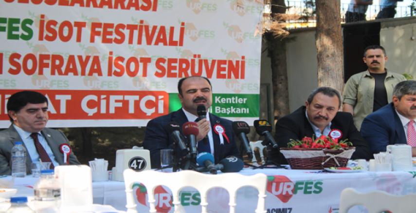 Çiftçi, 'Urfa 5-6 ve 7 Ekimde farklı etkinliklere ev sahipliği yapacak'