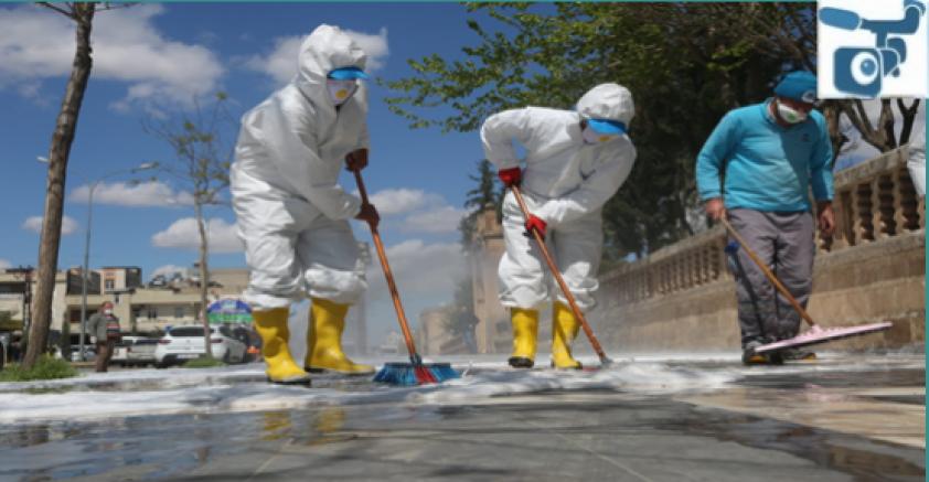 Eyyübiye Belediyesi Temizliyor, Vatandaşlar Teşekkür Ediyor