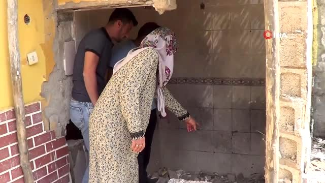 Şanlıurfa'da bir eve havan mermisi düştü... Evde kimsenin olmaması faciayı önledi