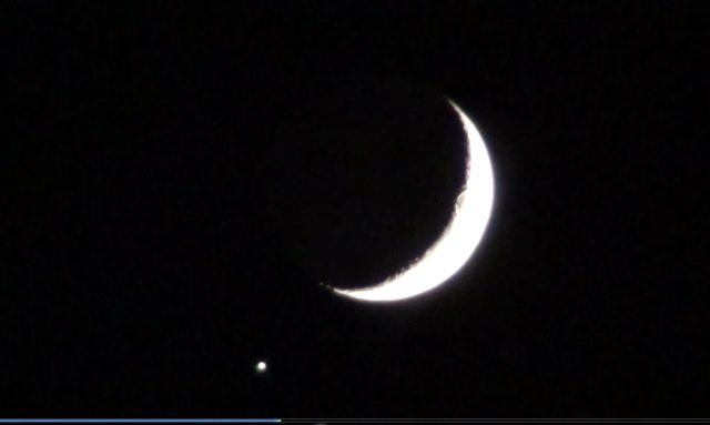 Sınırın sıfır noktasında Ay ile yıldızın muhteşem buluşması